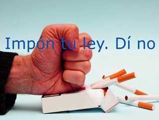 No al tabaco. Impón tu criterio.